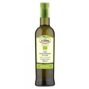 olio extra vergine di oliva biologico Turri bottiglia da 0,50L