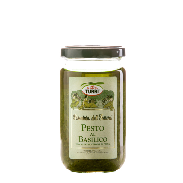 Pesto al Basilico in olio extra vergine di oliva - Primizia del Fattore Turri - vasetto da 185 g
