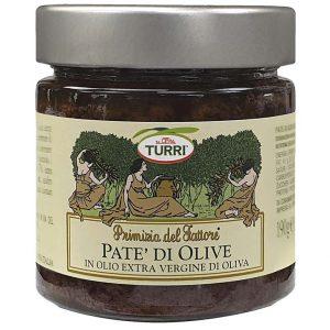 Paté di Olive Turri - Primizia del Fattore in olio extra vergine di oliva - vaso da 190 g