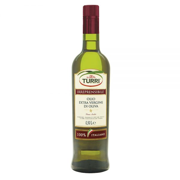 olio extra vergine di oliva Turri Irreprensibile - bottiglia da 0,50 L