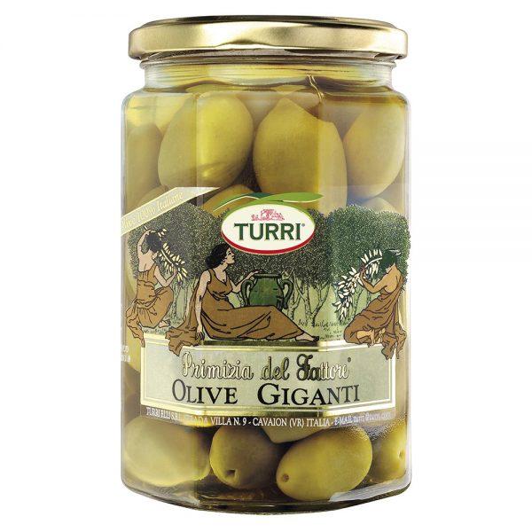 olive giganti Primizia del Fattore Turri vaso da 540g (peso sgocciolato 310g)