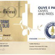 premio le forme dell'olio olive e paté 2021