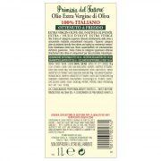 retro etichetta olio extra vergine di oliva Primizia del Fattore Turri bottiglia da1 L
