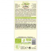 retro etichetta olio extra vergine di oliva Turri biologico bottiglia da 0,50L