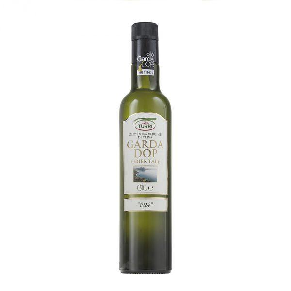 """olio extra vergine di oliva Garda DOP Orientale Turri """"1924"""" bottiglia da 0,50 L"""