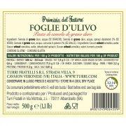 retro etichetta Pasta Foglie d'Ulivo Primizia del Fattore Turri 500g