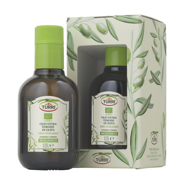 olio extra vergine di oliva Biologico 100% italiano - bottiglia da 0,25 L