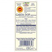 "retro etichetta Olio extra vergine di oliva Garda DOP Orientale Turri ""Villa"" 0,50 L"