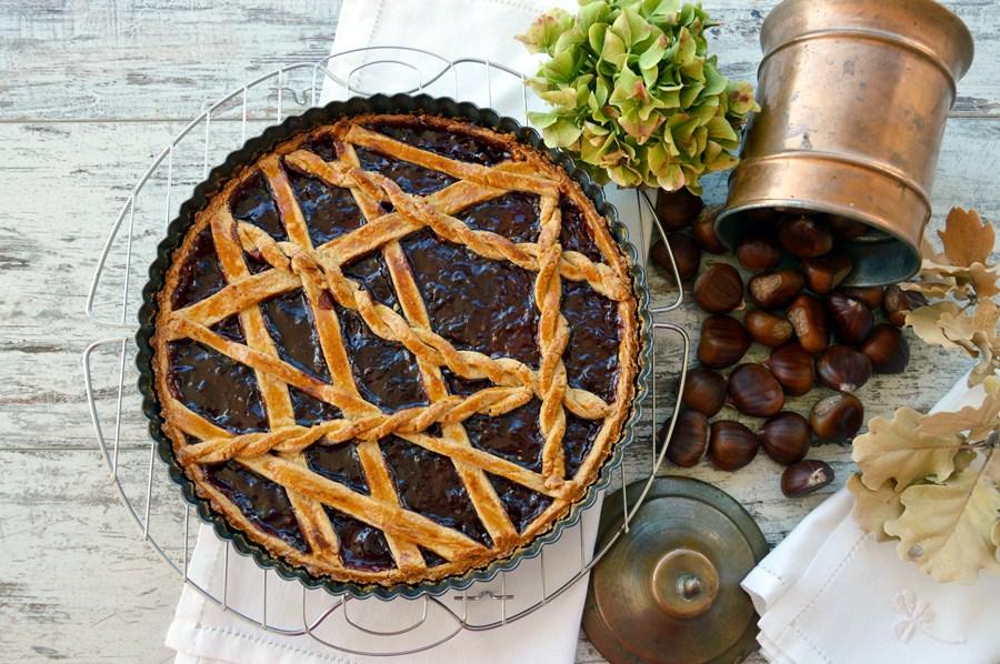 Ricetta crostata di marroni olio extravergine d'oliva