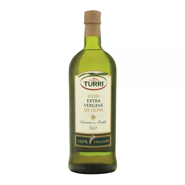 olio extra vergine di oliva Turri 100% italiano bottiglia da 1 L
