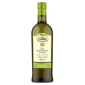 olio extra vergine di oliva biologico Turri bottiglia da 0,75 L