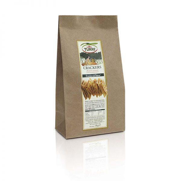 Crackers Primizia del fattore Turri con olio extra vergine di oliva - sacchetto da 150 g