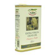 olio extra vergine di oliva 100% italiano ottenuto a freddo Turri – retro lattina da 0,50 L