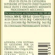 retroetichetta olio extra vergine di oliva 100% italiano – bottiglia da 0,10L